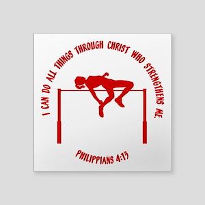"""PHILIPPIANS 4:13 Square Sticker 3"""" x 3"""""""