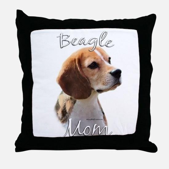 Beagle Mom2 Throw Pillow
