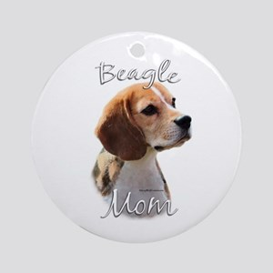 Beagle Mom2 Ornament (Round)