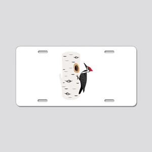 Red Headed Woodpecker Aluminum License Plate