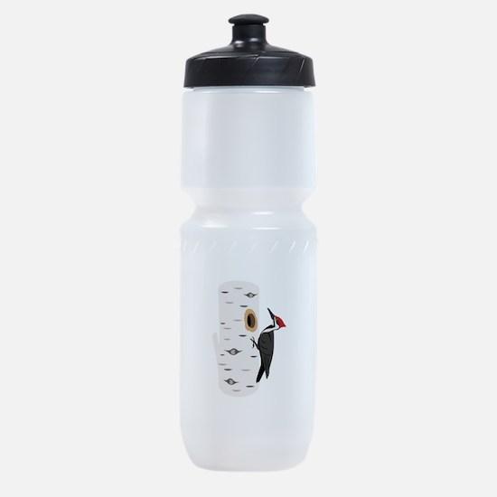 Red Headed Woodpecker Sports Bottle