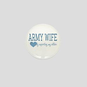 Army Wife Mini Button