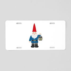Gnome & Lantern Aluminum License Plate