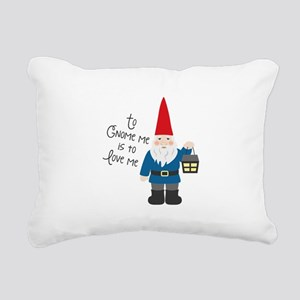 To Gnome Me Rectangular Canvas Pillow