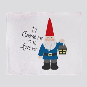 To Gnome Me Throw Blanket