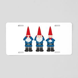 Garden Gnomes Aluminum License Plate