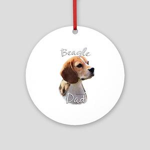 Beagle Dad2 Ornament (Round)