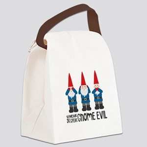 Gnomes No Evil Canvas Lunch Bag