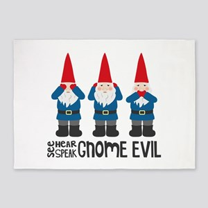 Gnomes No Evil 5'x7'Area Rug