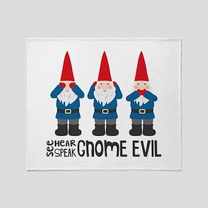 Gnomes No Evil Throw Blanket