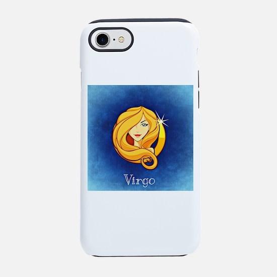 Virgo on Blue iPhone 8/7 Tough Case