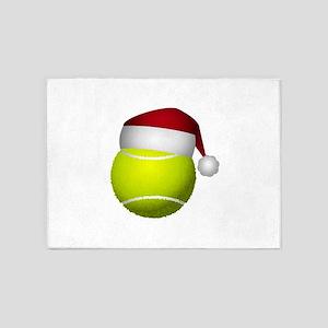 Christmas Tennis 5'x7'Area Rug