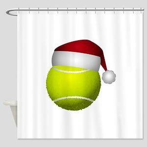 Christmas Tennis Shower Curtain