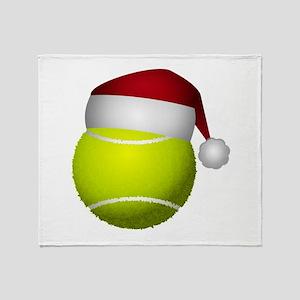 Christmas Tennis Throw Blanket