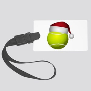 Christmas Tennis Large Luggage Tag
