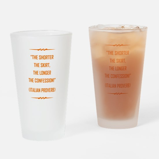THE SHORTER THE... Drinking Glass