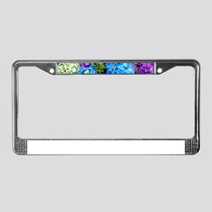 Colorful Hydrangea Bush License Plate Frame