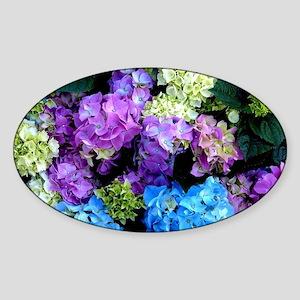 Colorful Hydrangea Bush Sticker