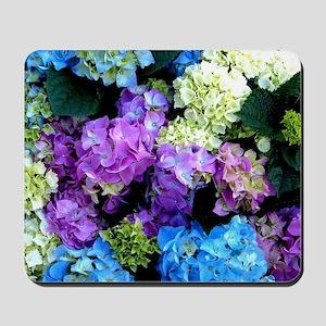 Colorful Hydrangea Bush Mousepad