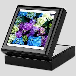 Colorful Hydrangea Bush Keepsake Box