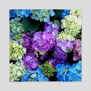 Colorful Hydrangea Bush Queen Duvet