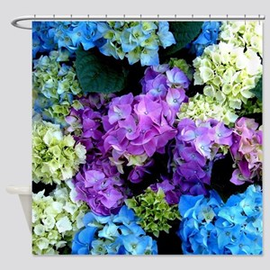 Colorful Hydrangea Bush Shower Curtain