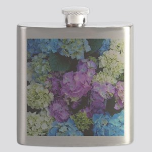 Colorful Hydrangea Bush Flask