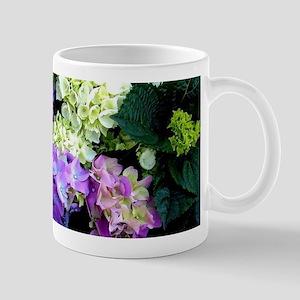 Colorful Hydrangea Bush Mugs