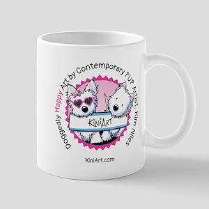 KiniArt Westies Badge Mug