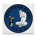 USS Staten Island (AGB 5) Tile Coaster