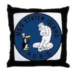 USS Staten Island (AGB 5) Throw Pillow