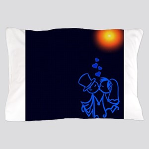 Kissing Married Couple (Navy/Blue) Pillow Case
