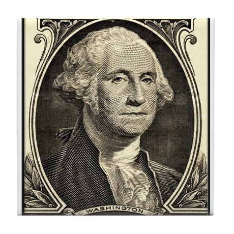 George Washington, $1 Portrait Tile Coaster