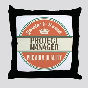 project manager vintage logo Throw Pillow