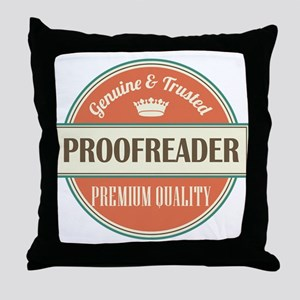 proofreader vintage logo Throw Pillow