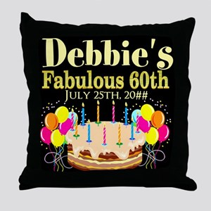 SUPER 60TH Throw Pillow