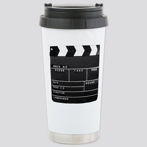Clapperboard for movie Stainless Steel Travel Mug