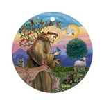 Stfrancis With Love Round Ornament