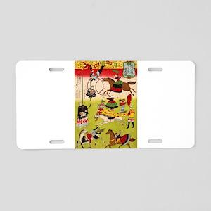 circus art Aluminum License Plate
