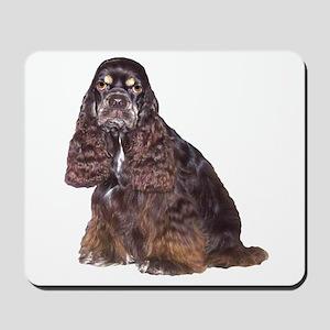 Black Cocker Spaniel Dog Mousepad