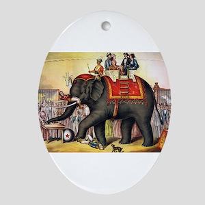 circus art Oval Ornament