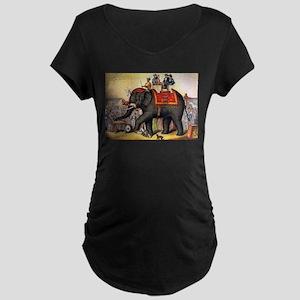 circus art Maternity T-Shirt
