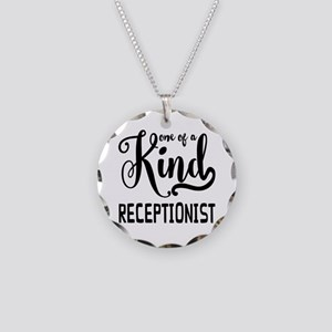 One of a Kind Receptionist Necklace Circle Charm