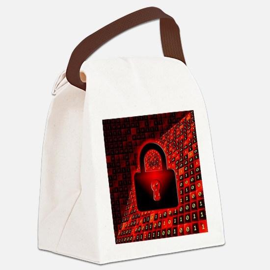 Unique Bytes Canvas Lunch Bag