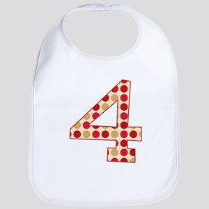 4th Birthday Polka Dots Bib