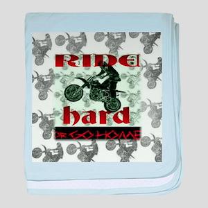 Ride Hard baby blanket