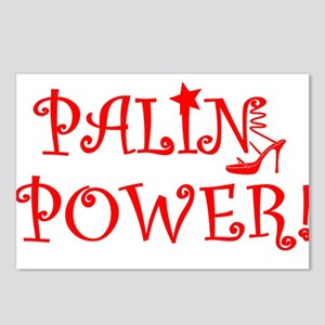 PALIN POWER bright red.pn Postcards (Package of 8)