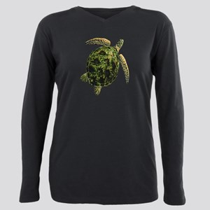 SEA TURTLE Plus Size Long Sleeve Tee