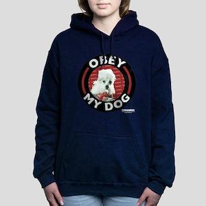 Obey My Dog Women's Hooded Sweatshirt