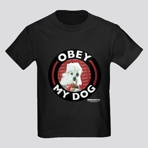 Obey My Dog Kids Dark T-Shirt